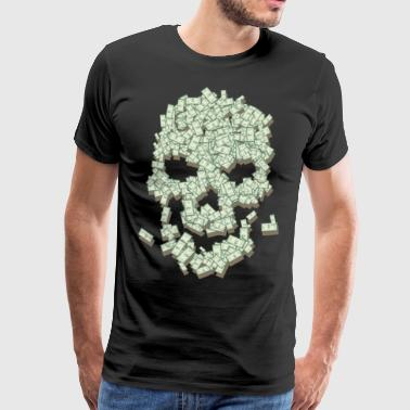 Skull from dollar bills - Men's Premium T-Shirt