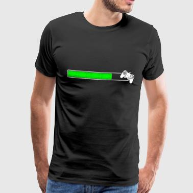 Laddar spel Laddar bar loading upload Installera - Premium-T-shirt herr