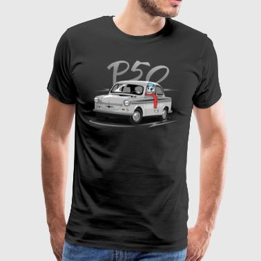 Trabant P50 with driver - Men's Premium T-Shirt