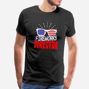 July Gafas de sol de Fireworks Director Fourth of July Fun - Camiseta premium hombre