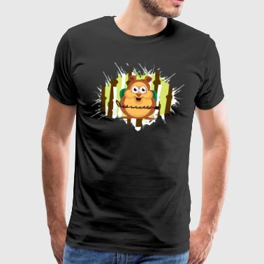 Hamster metal finder with the metal probe in the forest - Men's Premium T-Shirt