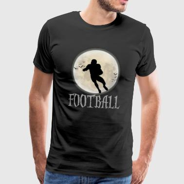 Football Halloween moon bat - Men's Premium T-Shirt