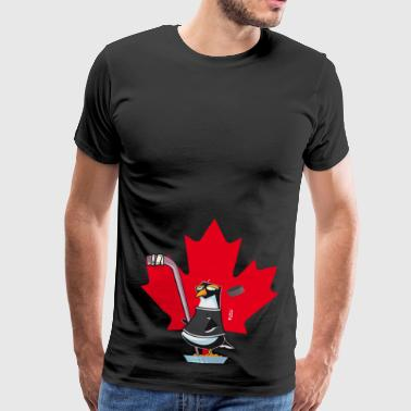 Pinguoin Hockey Canada couleur - T-shirt Premium Homme