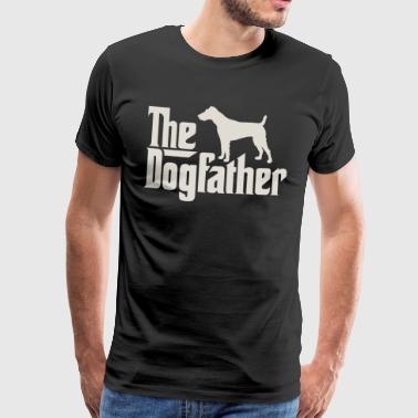 The Dogfather - Fox Terrier, Terrier - Men's Premium T-Shirt