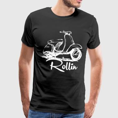Rolling shirt for scooter driver - Men's Premium T-Shirt