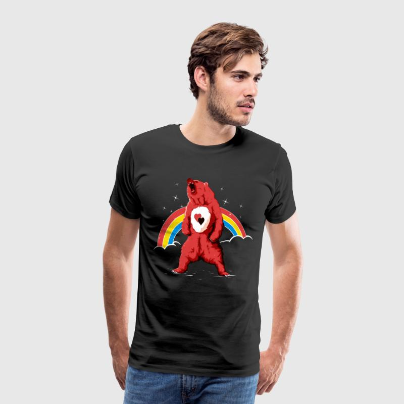 Rainbow bear - Premium T-skjorte for menn