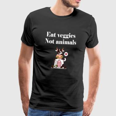 Vegan vegan vegan saying proverbs animal welfare - Men's Premium T-Shirt
