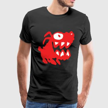 Humoristique Bow Wow! Red Cartoon Dog by Cheerful Madness!! - Men's Premium T-Shirt