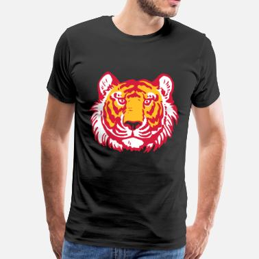 Cheerful Madness Tiger's Head by Cheerful Madness!! - Men's Premium T-Shirt