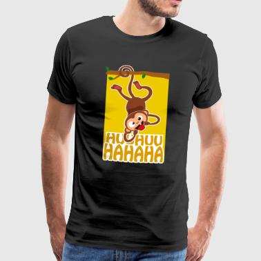 Naughty monkey tree tongue out - Men's Premium T-Shirt