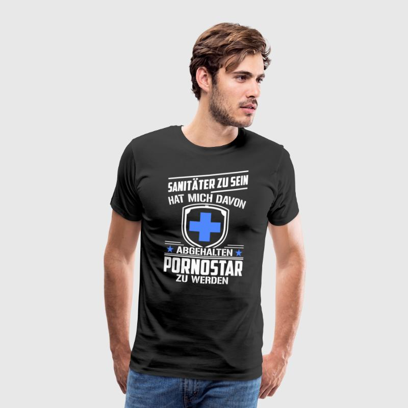 Paramedics kept me from pornstars - Men's Premium T-Shirt