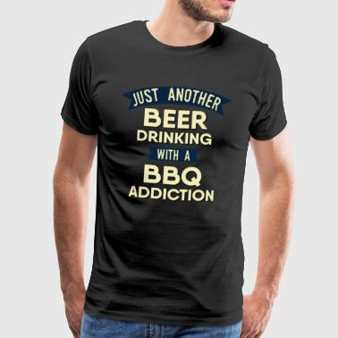 Pitmaster BBQ Barbecue food grill Put my meat in your mouth and swallow design bbq addiction - Men's Premium T-Shirt