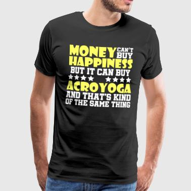 Acroyoga Lovely and Relaxing Acro Yoga Tshirt Design Happiness Acroyoga - Men's Premium T-Shirt