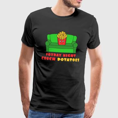 Awesome Trend Design Fryday Tshirt Fryday Night Couch Potatoes - Premium T-skjorte for menn