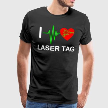 Funny Laser Tag Party TShirt Mode On I love laser tag - Men's Premium T-Shirt