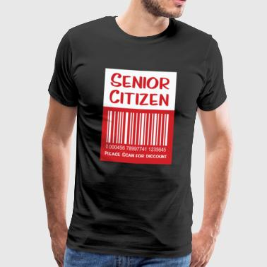 Senior Citizen TShirt Gift Please scan for discount - Men's Premium T-Shirt