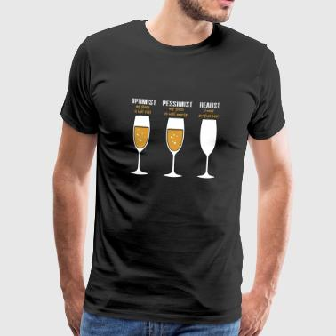 Artist Quotes Realists Quote TShirt Design Realist beer glass - Men's Premium T-Shirt