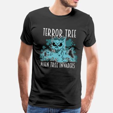 Geek Love Awesome & Trendy Tshirt Designs Terror Tree - Men's Premium T-Shirt