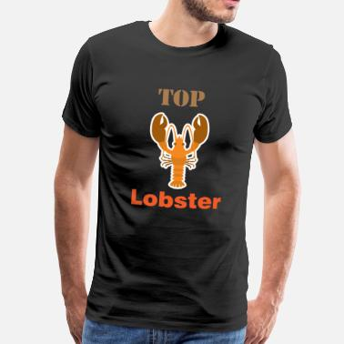 Fishing Logo Lobster Tshirt for Men, Women and Kids Top Lobster - Men's Premium T-Shirt