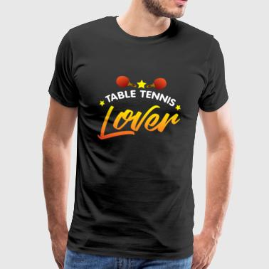 Bordtennisbat Bordtennis, bordtennis spiller, bordtennis - Herre premium T-shirt