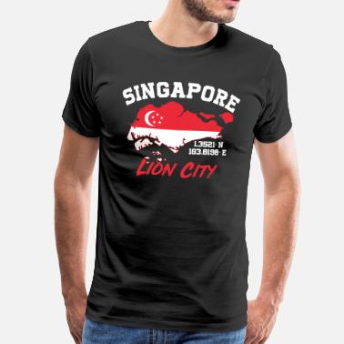 Bay Singapore Lion City - Mannen Premium T-shirt