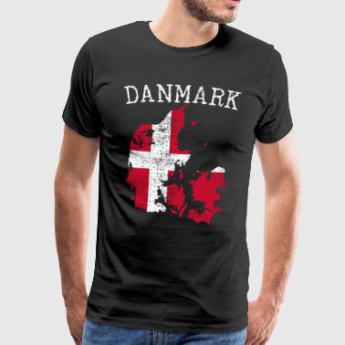 Drapeau national danois - T-shirt Premium Homme