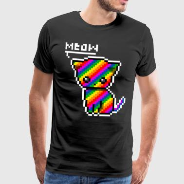 rainbow cat - T-shirt Premium Homme