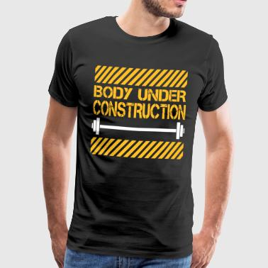 Body under construction - Mannen Premium T-shirt