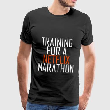 Training for a Netflix Marathon - Männer Premium T-Shirt