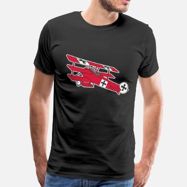 Fokker Fokker Roter Baron Red Air Combat First World War  - Men's Premium T-Shirt