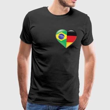 Heart Flag Brazil Samba Germany Gift - Men's Premium T-Shirt