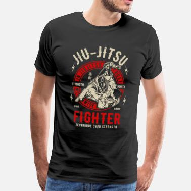 Ju Jitsu Jiu Jitsu - Fighter - Martial Art - Men's Premium T-Shirt
