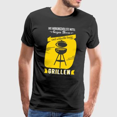 Grill Shirt · Charcoal BBQ · Stress Gift - Men's Premium T-Shirt