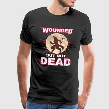 Werewolf Halloween - but not dead - Men's Premium T-Shirt