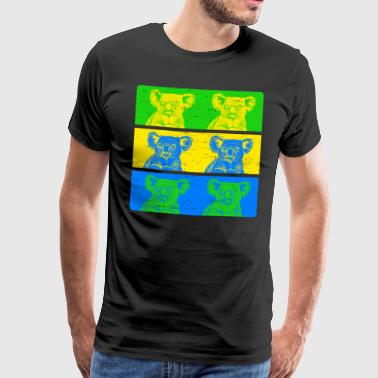 Koala in bright colors - Men's Premium T-Shirt