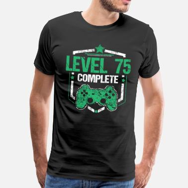 Nivå Gamer Shirt Level 75 Komplett Gaming Birthday Gift Tee - Premium T-skjorte for menn