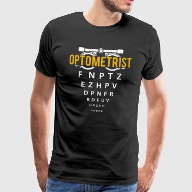 Optician Gift - Eyeglass Wearer Ophthalmologist Glasses - Men's Premium T-Shirt