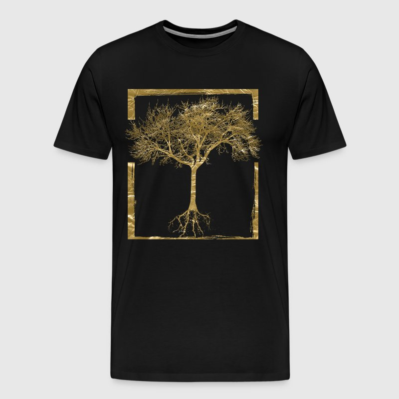 Golden Nature - Mother Nature Tree Roots Life - Mannen Premium T-shirt