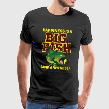 Funny Fishing Happiness is a Big Fish Carp Hook Gift - Men's Premium T-Shirt