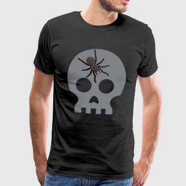 Funny Scary Funny Spider Skull - Scary Creepy Spooky Halloween - Men's Premium T-Shirt