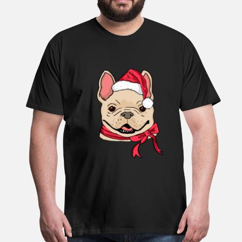 buy online c18ac e3ab6 french-bulldog-xmas-hat-dog-lover-christmas-t-shirt-premium-homme.jpg