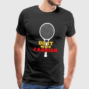 Tennis Player Ball Racket Serveer spel Ik hou van tennis - Mannen Premium T-shirt