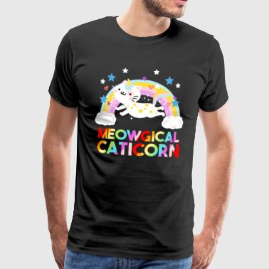 Meowgical Caticorn Unicorn Magical Unicorn Cat - Men's Premium T-Shirt