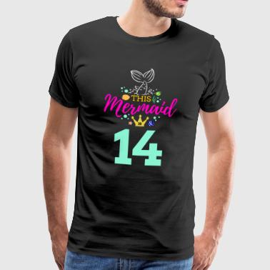 Neptune 14 Birthday Girl Six 14th Birthday Boy Girl Girl - Premium T-skjorte for menn