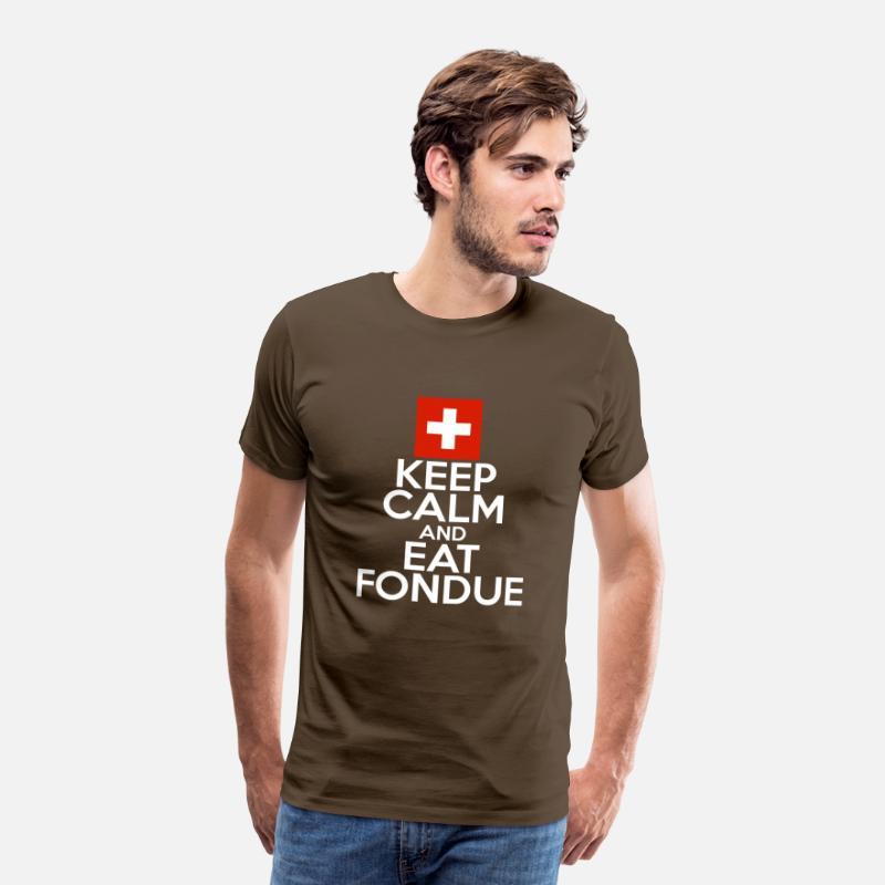 Bleib Entspannt Und Esse Fondue Lustige Spruche Manner Premium T