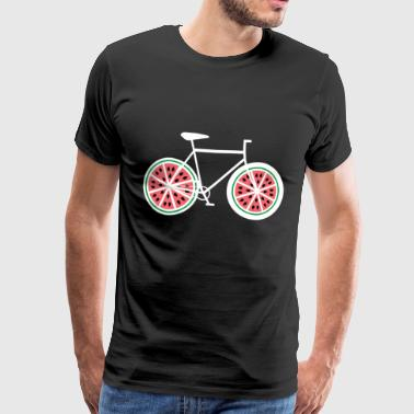 Watermelon Bicycle - Bike, Bike, Road Bike, Fixie - Koszulka męska Premium