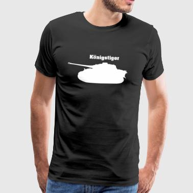 World Of Tanks Rey Tigre Panzer, Tigre 2, blanco - Camiseta premium hombre