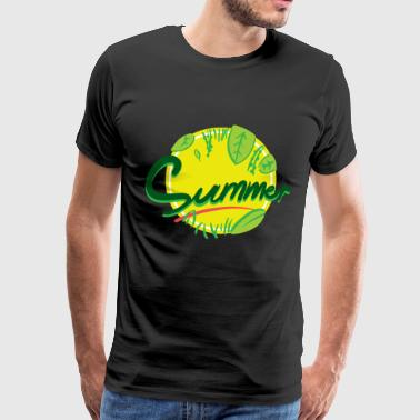 Yellow In the summer with lots of green and yellow - Men's Premium T-Shirt