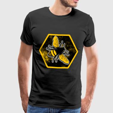 Bee Manchester Bees honeycombs - Men's Premium T-Shirt