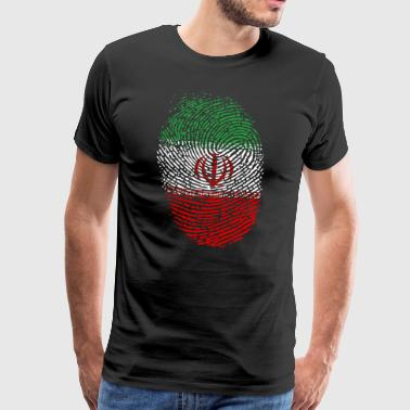 Iran flag - Men's Premium T-Shirt